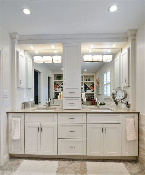 Built In Vanity Cabinets For Bathrooms by Others Artistic White Bathroom Vanity Light Using Metal