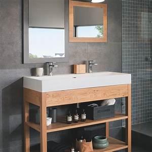 plans de toilette sur mesure pour votre salle de bains With salle de bain design avec plan vasque bois sur mesure