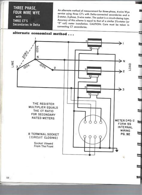 Wye Vt Wiring Diagram by Form 5 2 Element Metering With Three 3 Wye Connected