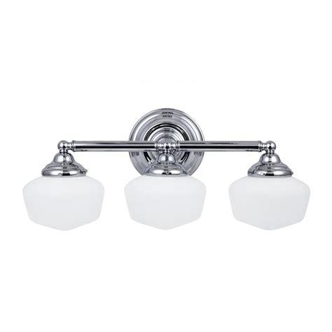 chrome bathroom vanity light shop sea gull lighting 3 light academy chrome bathroom