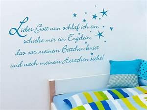 Kinderzimmer Für Jungs : wandtattoo gute nacht gebet lieber gott nun schlaf ich ein ~ Lizthompson.info Haus und Dekorationen
