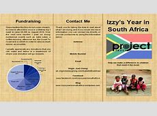 Project Trust Leaflet – Izzy's Year In South Africa