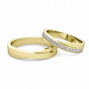 Matching Wedding Band Infinity Diamond Wedding Ring Set