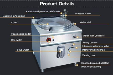 Restaurant 100l Gas Industrial Cooking Pot/bulk Cooking
