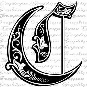letter initial c monogram old engraving style type by With engraving letter styles
