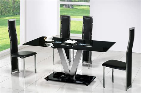 modern black table l modern black dining table with glass decobizz com