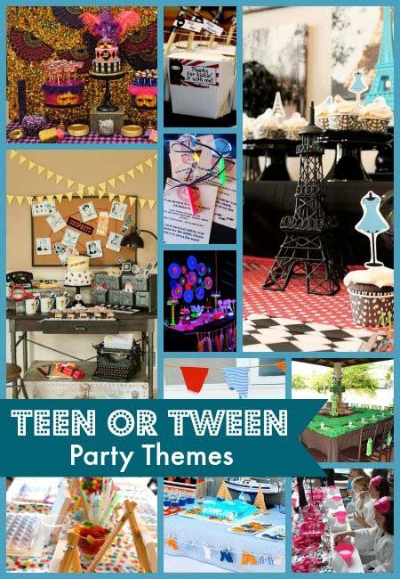 teen  tween party themes