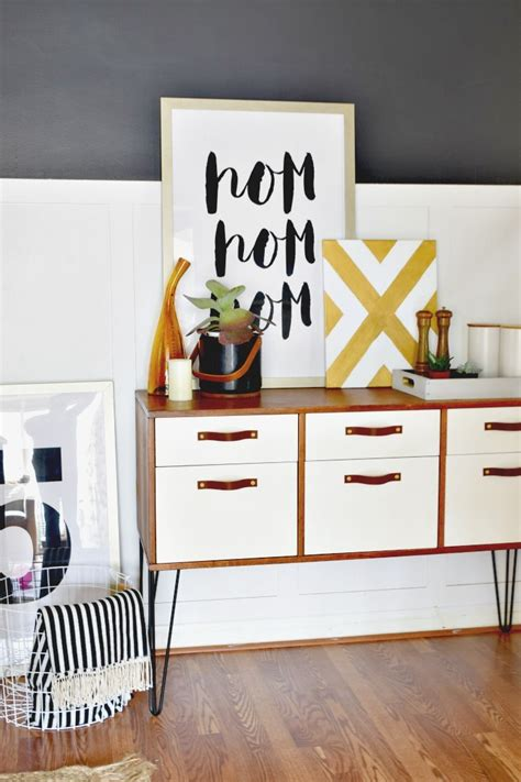 credenza legs painted two toned dining room credenza houseologie