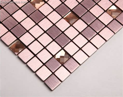 purple aluminum mosaic tiles metal mosaic tile sheets self