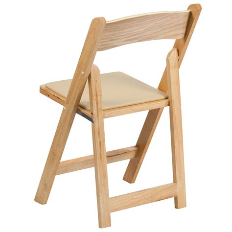 hercules series wood folding chair with vinyl