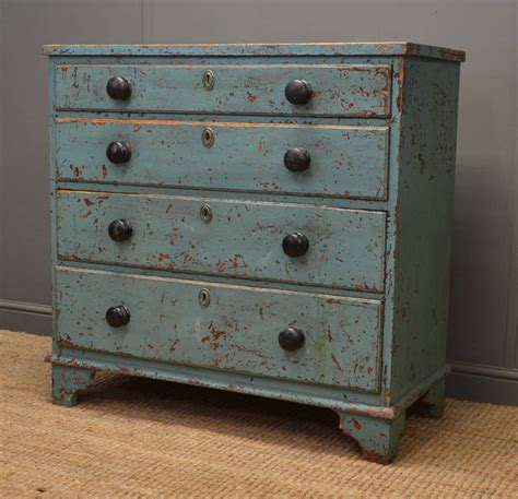 rustic painted furniture rustic painted georgian antique chest of drawers Rustic Painted Furniture