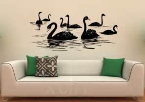 aliexpress com buy swan birds wall decal lake vinyl