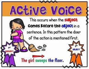 Passive Voice Rules Chart Active And Passive Voice Anchor Charts Verbs Have A