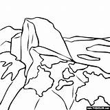 Coloring National Yosemite Thecolor Monuments Park sketch template