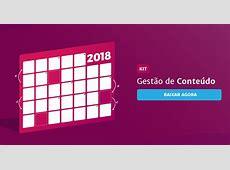 Gestão de Conteúdo Planejamento e Conograma 2018 [planilha]
