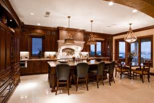 Kitchen Dining Room Ideas Luxury Kitchen And Dining Room Design With Lighting Fixtures Design Bookmark 5091