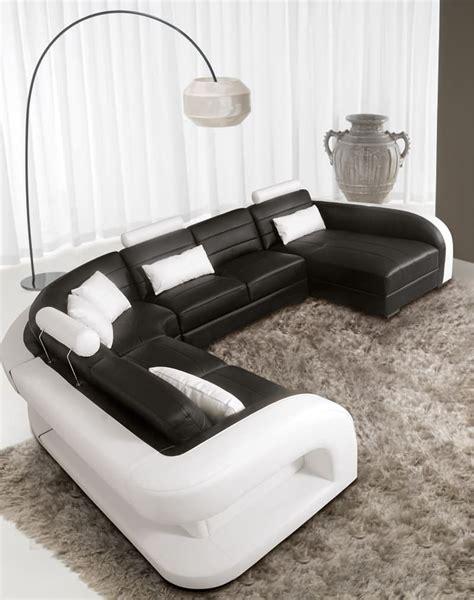 produit canapé cuir canapé panoramique cuir arezzo xl grand canapé cuir 7