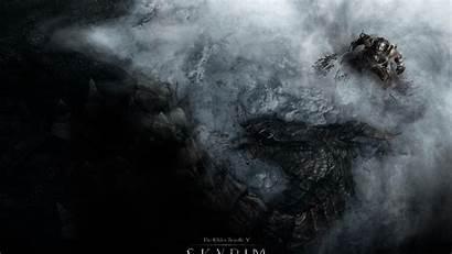 Skyrim 1080p Wallpapers Scrolls Elder Dragon Warrior
