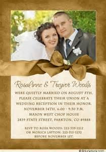 Wedding Reception Invitation Card