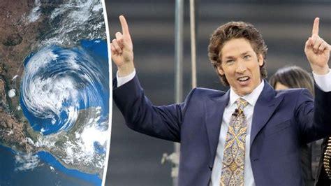 celebrity pastor joel osteens response  houston flood