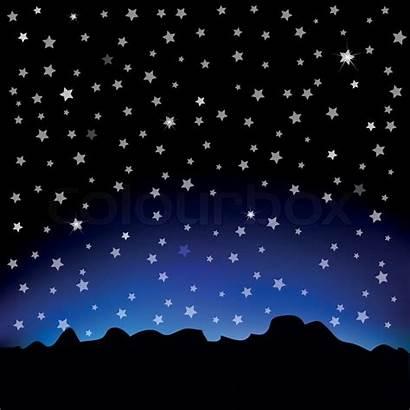 Starry Sky Sternenhimmel Cielo Stellato Landschaftsbild Berg