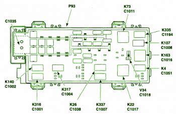 ford ranger battery junction fuse box diagram
