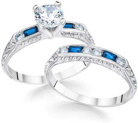 the pair 9 ideal engagement ring wedding band combinations charles schwartz