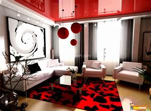 Modern apartment living room design with neat inspiration for Black and red living room decor