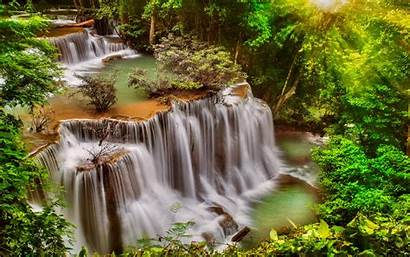 Waterfall Background Desktop Thailand Nature Thail Waterfalls