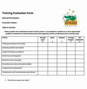 training evaluation form word etamemibawaco With class assessment template