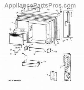 Parts For Ge Tbx25prbsrbb  Freezer Door Parts