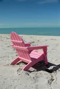Pink Chair at the Beach