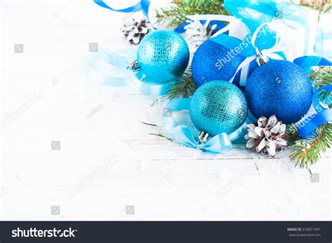 Awards And Decorations Branch by Decorations Blue Balls Branch Stock