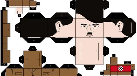 Papercraft adolf hitler squares wallpaper