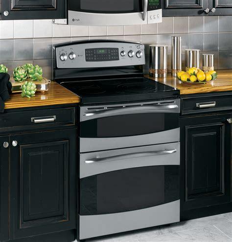 ge profile   standing double oven range