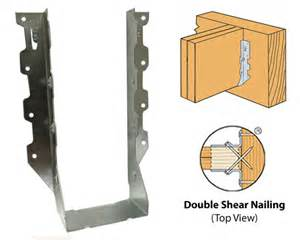 simpson strong tie lus26 2 series double shear joist hangers