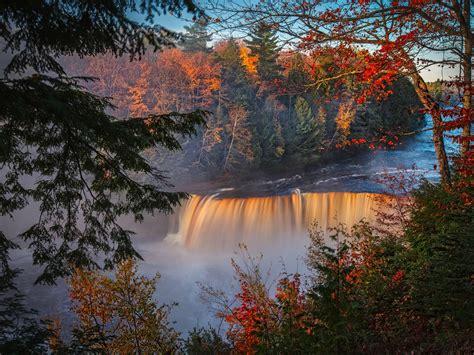 1600x1200 Autumn Waterfall Forest Fall 5k 1600x1200 ...
