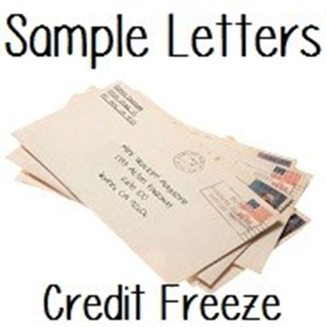 sample request  place  credit freeze letter doctor