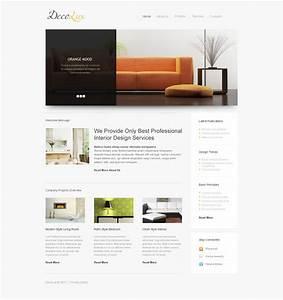 interior design responsive website template 39608 With interior decor website template