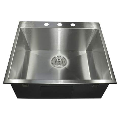 Stainless Steel Utility Sink Drop In by Stainless Steel Zero Radius Drop In Sink Free Shipping