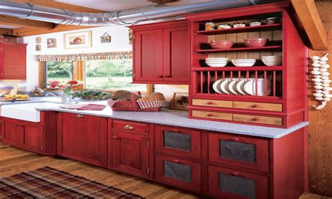 red kitchen accents red  yellow country kitchens red