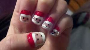 Displaying gt images for easy christmas nail designs snowman