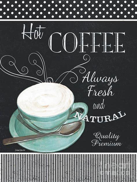 Shop posters, prints, framed art, canvas & more! Chalkboard Retro Coffee Shop 1 Poster by Debbie DeWitt