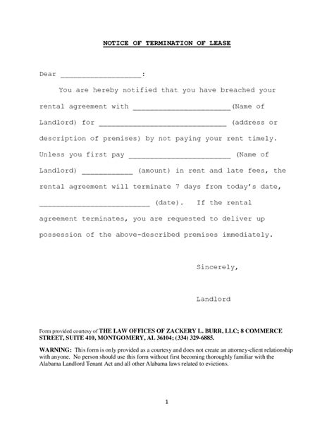 lease termination form fillable printable