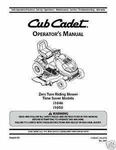 I1046 Cub Cadet Zero Turn Garden Tractor Collection On Ebay