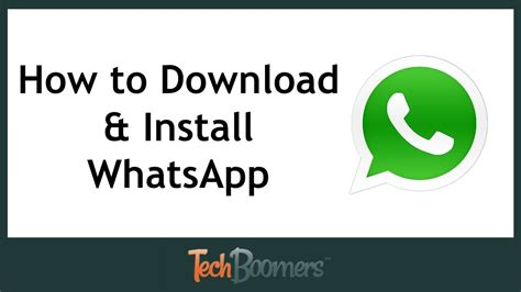 How To Download And Install Whatsapp Youtube