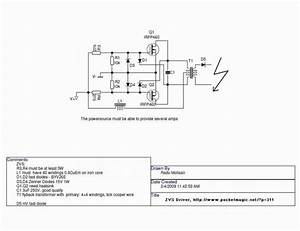 Zvs Flyback Driver Schematic  Zvs  Free Engine Image For User Manual Download