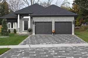 garage door, dark gray compliments house, front door could ...