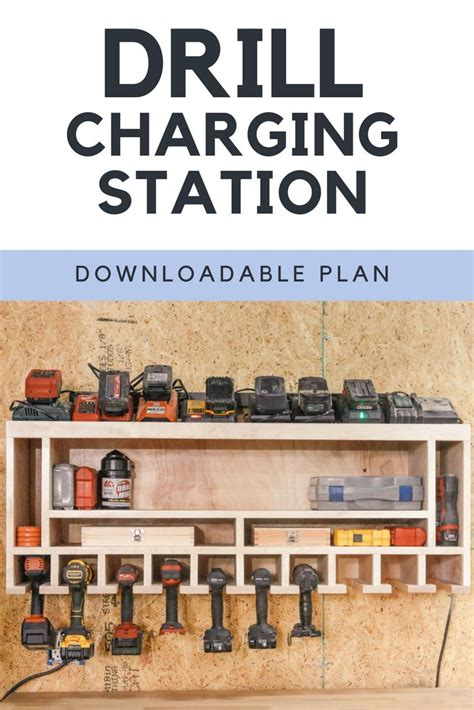 diy drill charging station diy woodworking popular
