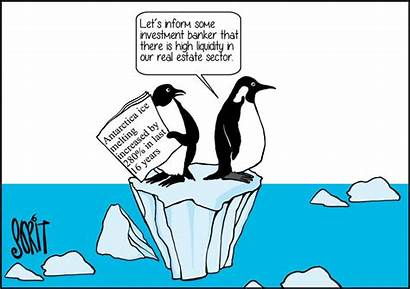 Melting Antarctica Opportunity Cartoon Change Climate Ice